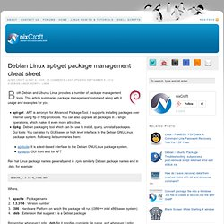 Debian Linux apt-get package management cheat sheet