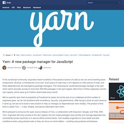 Yarn: A new package manager for JavaScript