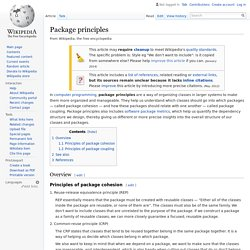 Package principles