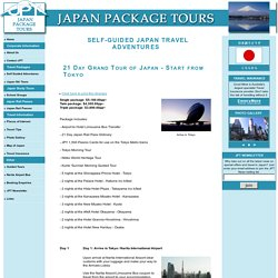 Japan Package Tours - Suggested Itinerary