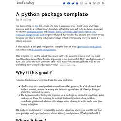 A python package template