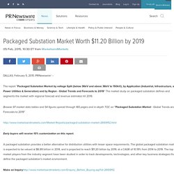 Packaged Substation Market Worth $11.20 Billion by 2019