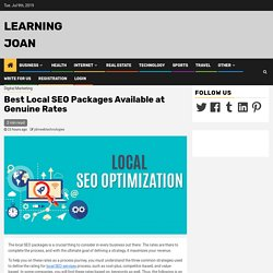Best Local SEO Packages Available at Genuine Rates
