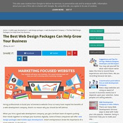 The Best Web Design Packages Can Help Grow Your Business - Best Web Development