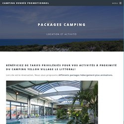 packages camping vendée