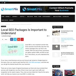 Local SEO Packages Is Important to Understand
