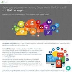 Social Media Optimization Packages and services