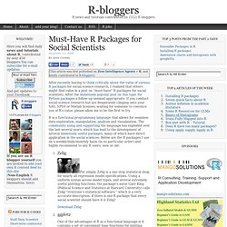Must-Have R Packages for Social Scientists