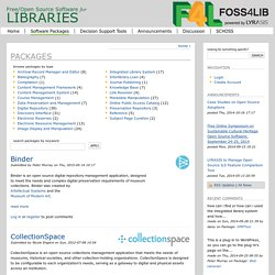 Library Open-Source Software Registry