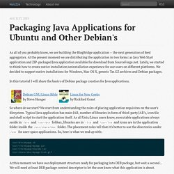Packaging Java applications for Ubuntu and other Debian's - noizZze