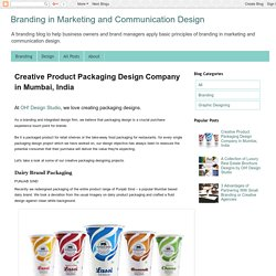 Creative Product Packaging Design Company in Mumbai, India - Branding in Marketing and Communication Design