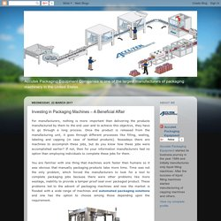 Accutek Packaging Equipment: Investing in Packaging Machines – A Beneficial Affair