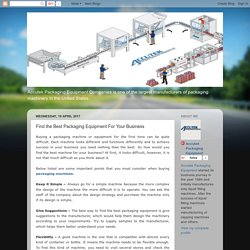 Accutek Packaging Equipment: Find the Best Packaging Equipment For Your Business
