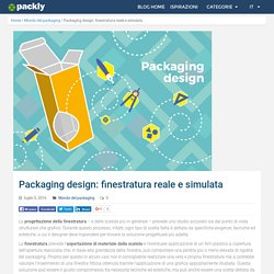 Packaging design: finestratura reale e simulata