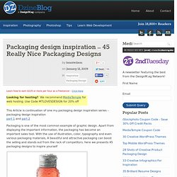Packaging design inspiration – 45 Really Nice Packaging Designs at DzineBlog