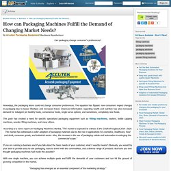 How can Packaging Machines Fulfill the Demand of Changing Market Needs? by Accutek Packaging Equipment