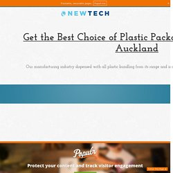 Get the Best Choice of Plastic Packaging Material in Auckland
