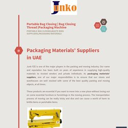 Packaging Materials' Suppliers in UAE
