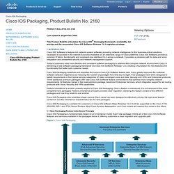 IOS Packaging, Product Bulletin No. 2160  [Cisco IOS Packaging
