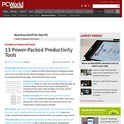 13 Power-Packed Productivity Tools - PCWorld