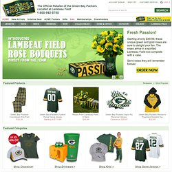 Packers jerseys, hats, sweatshirts, jackets and other Packers merchandise.
