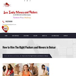 How to Hire The Right Packers and Movers in Boisar