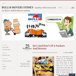 Do's And Don't Of A Packers And Movers