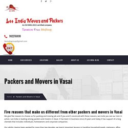 Packers and Movers in Vasai