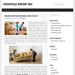 Movers and packers making your life easy - Stouffville Airport Taxi