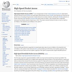 High Speed Packet Access
