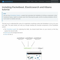 Packetbeat - Installing Packetbeat, Elasticsearch and Kibana tutorial