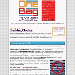 Packing Clothes :: One Bag - StumbleUpon