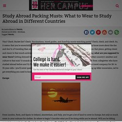 Study Abroad Packing Musts: What to Wear to Study Abroad in Different Countries