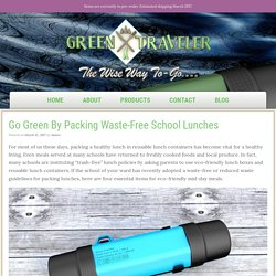 Go Green By Packing Waste-Free School Lunches - My Green Traveler