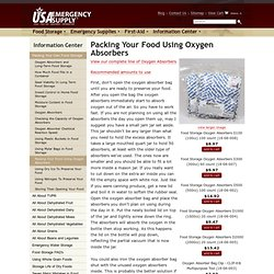 Packing Your Food Using Oxygen Absorbers