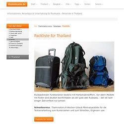 Packliste für Thailand