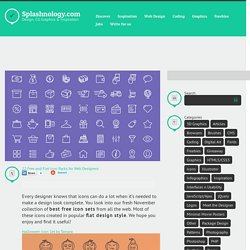 22 Free and Flat Icon Packs for Web Designers