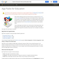 App Packs for Education - Chrome for Work and Education Help