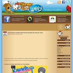 Les packs d'icones gratuites du mois de juillet 2010