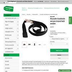 Pacsafe CashSafe secure travel belt wallet - travelgear.com.au