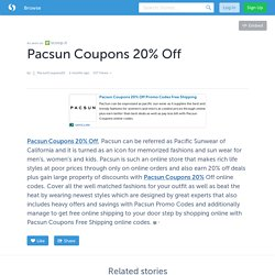 Pacsun Coupons 20% Off
