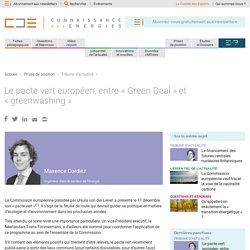 Le pacte vert européen, entre «Green Deal» et «greenwashing»