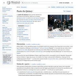 Pacte du Quincy