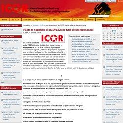 13/03/2015 Pacte de solidarité de l'ICOR avec PKK