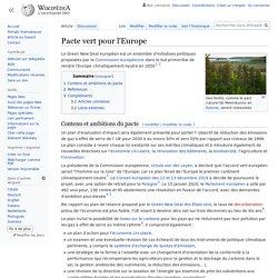 WIKIPEDIA – Pacte vert pour l'Europe.