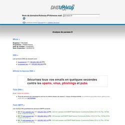 pacwan.fr: DNSLookUp Nslookup DNS de pacwan.fr