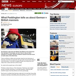 What Paddington tells us about German v British manners