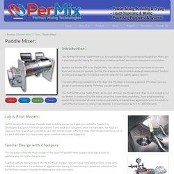 Paddle Mixer