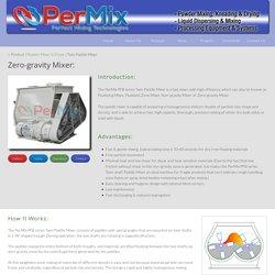 Twin paddle mixer