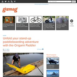 Unfold your stand-up paddleboarding adventure with the Origami Paddler